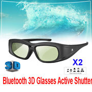 2pc Elikliv Bluetooth Active Shutter Glasses 3d Rechargeable For Samsung Tv Sony