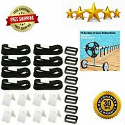 Ponwec 24pcs Pool Solar Cover Reel Attachment Straps Kit For In Ground Swimming