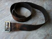 Vtg Old Ww2 Wwii Military German Wehrmacht Officer Luger P.08 Leather Belt 47.2