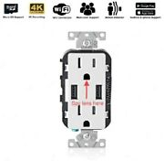 1080p Wifi Hd Wall Ac Outlet Hidden Security Camera Audio Voice Video Recorder