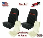 Front Bucket Seat Upholstery Covers + Foam 1969 Mustang Mach 1 Sportsroof