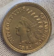 1864 Copper Nickel Indian Head Cent - Stunning Luster And Strike Ch Bu