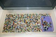 Massive Marbles Lot With Over 1000 Pcs. 15 Pounds All From The 1930and039s