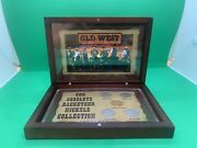 Obsolete Racketeer Liberty Nickels V Collection, 5 Coins, Acrylic Holder +case