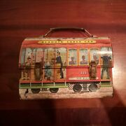 Vintage 1962 Cable Car Metal Dome Lunch Box Aladdin Industries