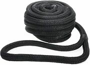 50 Ft 7/8 Inch Nylon Dock Line Double Braid Mooring Rope Anchor Line For Boat