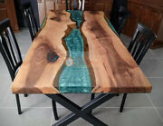Center Table Top Acacia Wood Table Custom Order Epoxy Resin River Table Decors