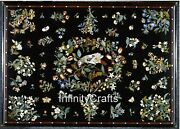 Marble Coffee Table Top Inlay Floral Design Royal Look Island Table 30 X 48 Inch
