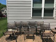 Vintage Brown Jordan Patio Furniture Roma Set Of 6 Chairs And Ottoman