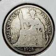 1923 France 0.10 Silver Coin Republique Francaise Statue Of Liberty