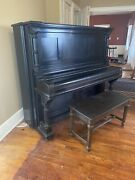 Antique 1878 Steinway And Sons Upright Piano
