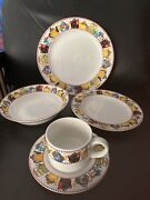 Mary Engelbreit 5 Piece Place Setting Set Afternoon Tea Tea Kettles Dishes Plate