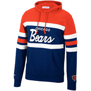 Menand039s Mitchell And Ness Org/nvy Nfl Chicago Bears Head Coach Hoodie