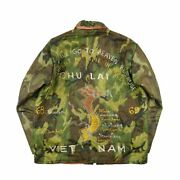 Vietnam Souvenir Jacket Camouflage Quilting Embroidery Menand039s Outwear 60s Vintage