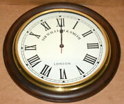 Vintage Wall Clock Wooden And Brass 22 Collectible Decorative Clock Home Decor