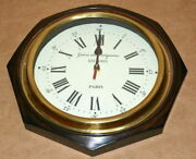 Vintage Wall Clock Collectible Wooden 12 Octagon Shape Decorative Wall Clock