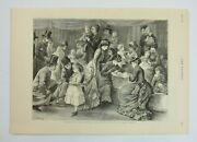 Antique 1879 Print Character Sketches In United States A Baby Show, The Graphic