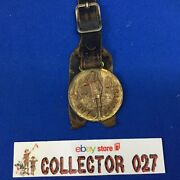 Boy Scouts Vintage Watch Fob With Leather