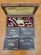 Lot Of 5 Vtg Schrade 1991 Scrimshaw Set Usa Mint And 4 Knives Classic Car Series