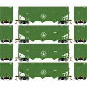 Athearn 76563 - 40' Wood Chip Hopper W/load - 4 Pack Ashland, Drew, And Northe...