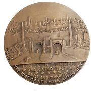 1937 Bronze Lincoln Tunnel Dedication Medal Heavy Coin New York By Kilenyi