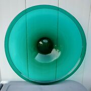 Gorgeous Hand Blown Teal Colored Art Glass 14.25 Charger Plate / Platter