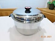 Society 16 Qt Roaster Stock Pot And Lid Ultrex 7 System T304s Stainless Steel