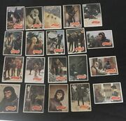 1975 Topps Planet Of The Apes Lot 2 Of 20 Mexican Card Very Rare Variatio