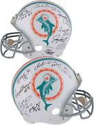 Miami Dolphins Legends Signed Pro-line Helmet With 11 Signatures And Inscs - Le 24