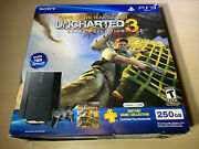 Sony Playstation 3 Ps3 Super Slim Black Uncharted 3 Console Brand New