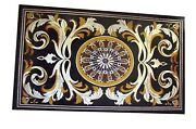 Marble Coffee Table Top Mosaic Art Patio Table For Garden Decor 30 X 48 Inches