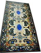 Marble Coffee Table Top Inlay Semi Precious Gemstone Dining Table 30 X 72 Inches