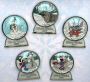 Disney Parks Winter Wishes 2017 Snow Globe Tiered Box Set Pins Le 1000 Completer