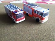 Ho 187 Scale Wiking Fire Truck Lot Of 2. Rare