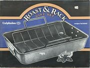 Vintage Calphalon Commercial Roaster And Rack - 12x18 Size Pan - Great Condition