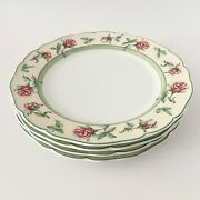 4 Wedgwood English Cottage Collection Rose 10 3/4 Inch Dinner Plates