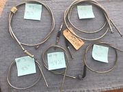 Vintage Lot Of 6 Grey Front Brake And Throttle Cables Ct90 Oem