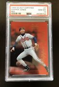 1996 Select Certified Red 7 Chipper Jones Psa 10 New Case Sp Rare