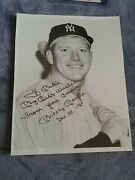 Mickey Mantle To Mike From Your Cousin.. Dec 25 1967 🎄 Christmas 8x10 Jsa