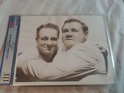 1939 Lou Gehrig Day Yankees Original 8x10 Photo Psa Dna W Babe Ruth Type Iii