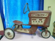 Vintage Amf Power-trac Engine E-502 Pedal Tractor Chain Drive Metal Farm Toy