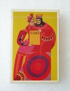 Time Magazine 1962 Playing Cards King Queen Limited Ed Advertising Art Deco