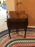 Antique Primitive Wooden Bentwood Butter Churn- M Brown Co. 6 Gallon Capacity
