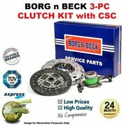 Borg N Beck 3pc Clutch Kit With Csc For Kia Pro Ceed Ceeand039d 2.0crdi 140 2008-2012