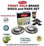 Front Axle Brake Discs + Brake Pads For Mercedes Benz S-class S63 Amg 2011-2013