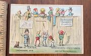 Victorian Trade Card Brownies Baseball Grounds Candy Ice Cream Maker Lacrosse Wi