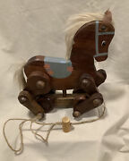 Vintage Wooden Horse/pony Pull Toy - Unique, Jointed Legs, Handmade