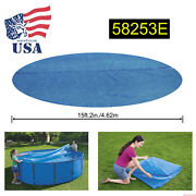 Bestway 58253e 16ft Pe Solar Heat Cover For Round Above Ground Swimming Pool New