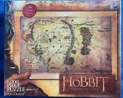Sealed Tolkien The Hobbit Unexpected Journey 1000 Pc Puzzle Middle Earth Map New