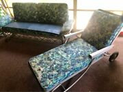 @@@the Bunting Co. Vintage Aluminum Couch And Chaise - All Original@@@